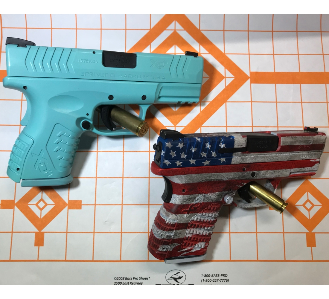 Springfield XD American Flag and Robins Egg Blue