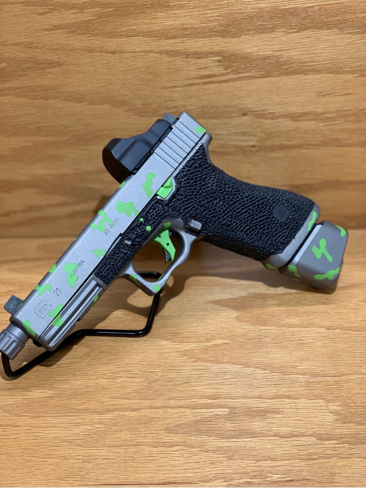 Glock Stainless n Zombie Green