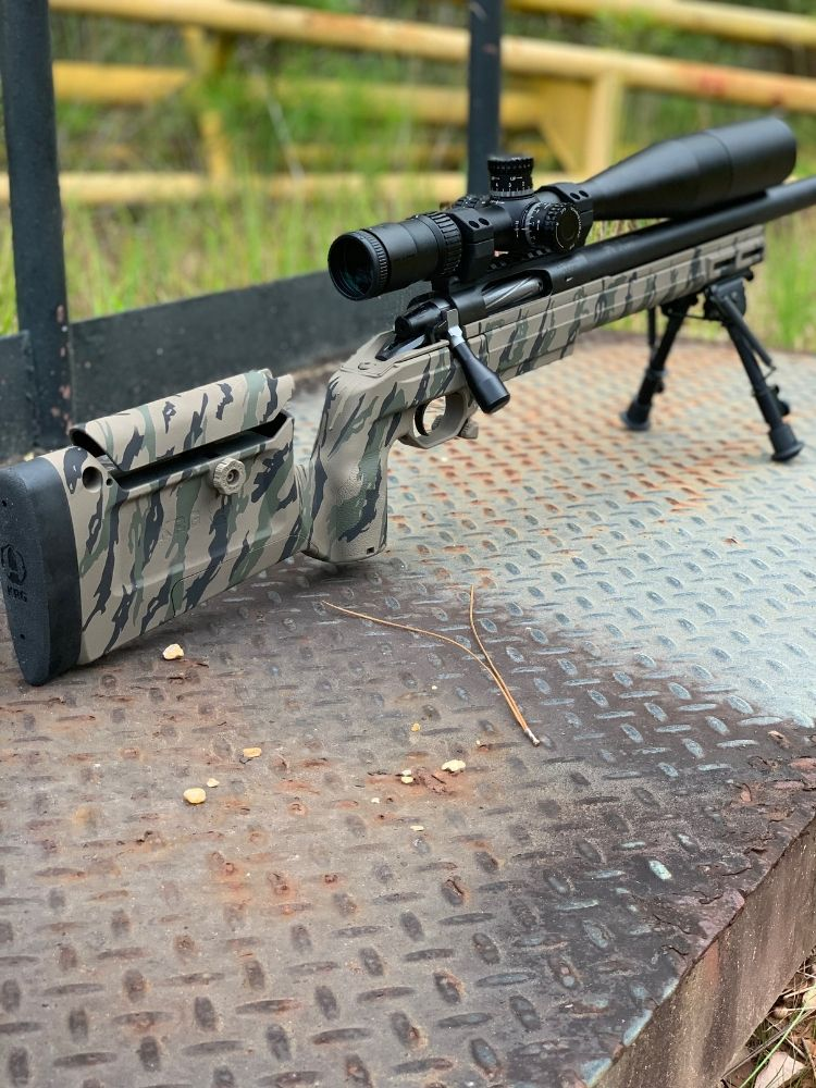 In House Custom Rifle With Tiger Stripe Pattern